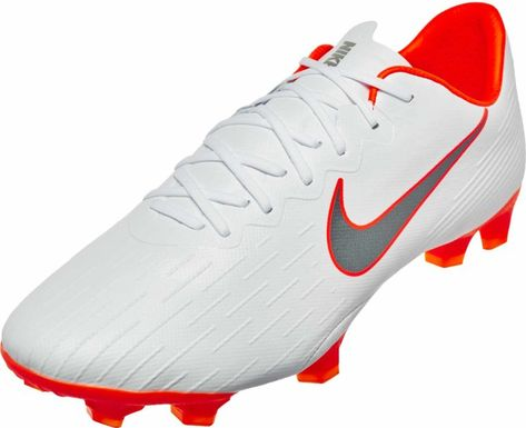 eb46ca17989b Nike Mercurial Vapor 12 Pro FG – White Metallic Cool Grey Total Orange
