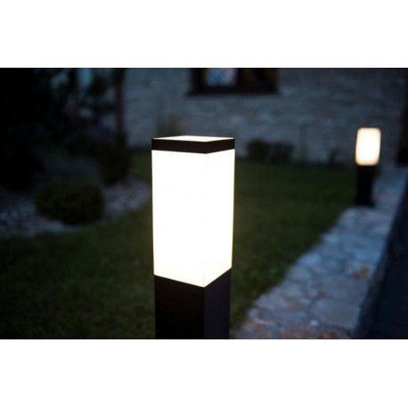 Slupek Ogrodowy Inox Kwadratowy Outdoor Decor Lamp Decor
