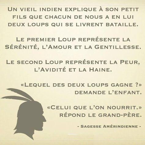 Poésie/ Citation: Sagesse Amérindienne / Amitiés & .