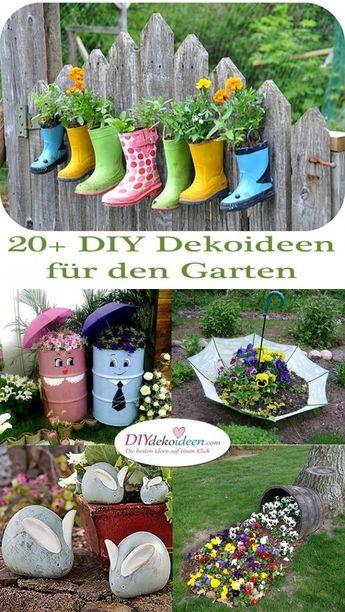 20 Diy Gartendeko Diy Dekoideen Fur Den Garten Selber Machen Garten Garten Deko Gartendeko Selber Machen