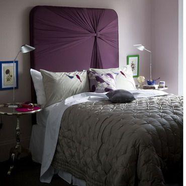 diseño moderno dormitorio blanco negro gris ideas de cabecera con ...