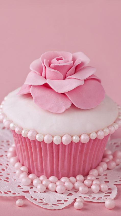 1440x2560 Food Cupcake Pink Sweets Flower. Wallpaper 669585