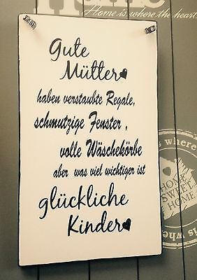 """Gute Mütter ..."" Tafel Türschild Wandschild Deko Shabby Vintage"