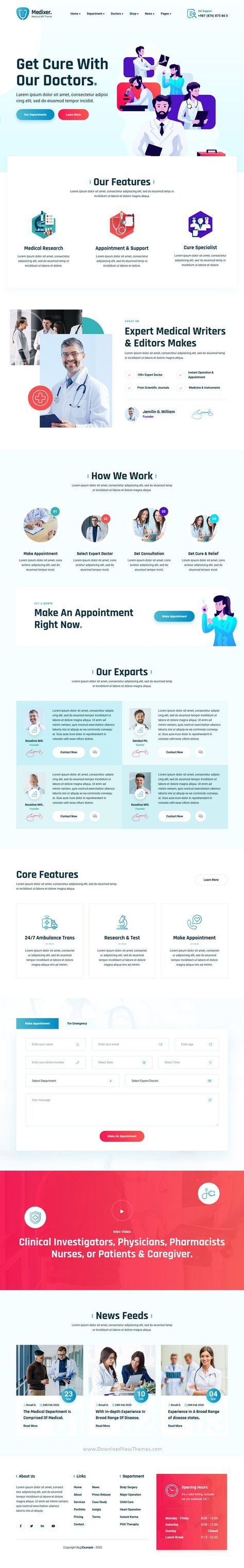 Medical and Health Responsive Template