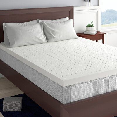 Alwyn Home Inez 2 5 Memory Foam Mattress Topper Bed Sizes Memory Foam Mattress Topper Mattress