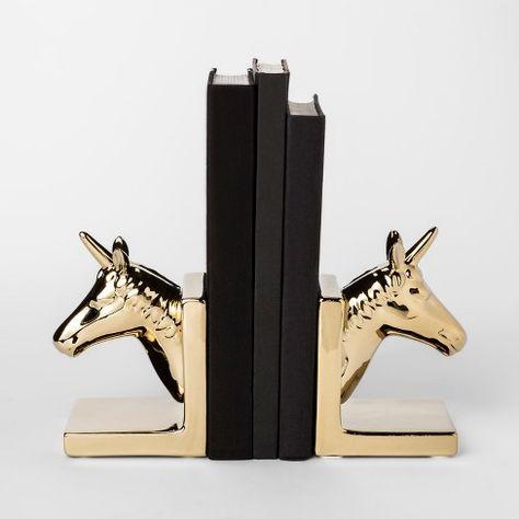 Decorative Bookend Gold Horse Room Essentials Target