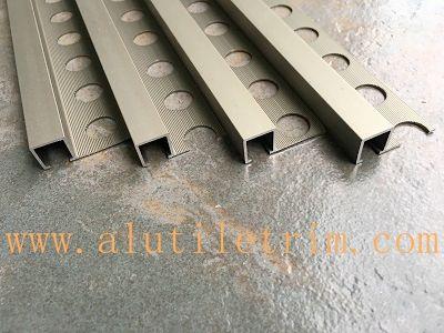square edge aluminum tile trim matt