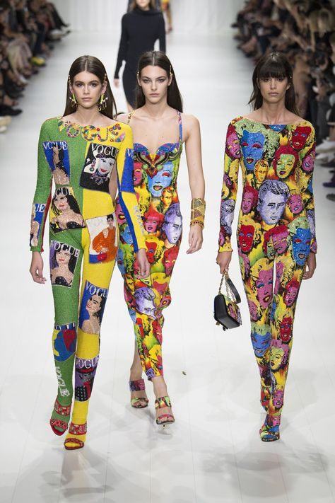 Fashion history was made at Versace's spring/summer 2018 show as Donatella Versace invited original supers Carla Bruni, Claudia Schiffer, Naomi Campbell, Cindy Crawford and Helena Christensen to celebrate the life and work of Gianni Versace.