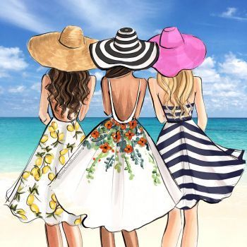 Vamos A La Playa 144 Pieces Fashion Illustration Bff Drawings Drawings Of Friends