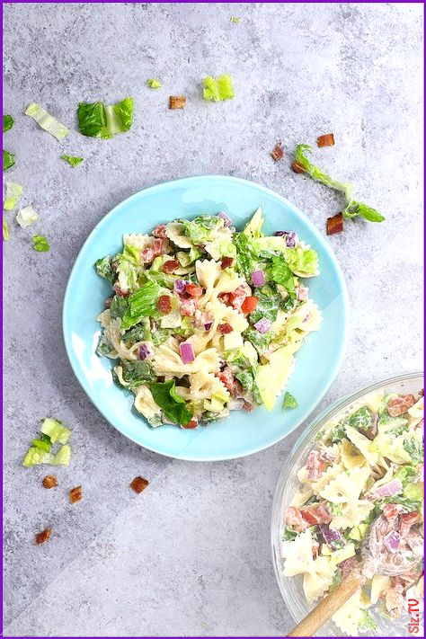 This BLT Pasta Salad is a refreshing and colorful salad and perfect for summertime BBQ or party It  s one of the easiest pasta recipes and will be o  This BLT Pasta Salad is a refreshing and colorful salad and perfect for summertime BBQ or party It  s one of nbsp  hellip   #bbq #Blt #cinnamon chips videos #Colorful #Easiest #party #pasta #Perfect #Recipes #refreshing