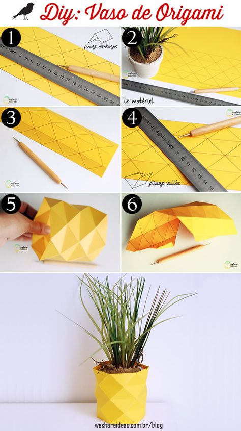 vaso de origami