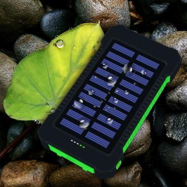 2018 New Portable Waterproof Solar Power Bank 20000mah Dual Usb Solar Battery Powerbank For All Pho Solar Power Bank Portable Solar Power Phone Battery Charger