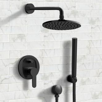 Matte Black Shower System With 8 Bathroomtileshowers In 2020 Mit Bildern Schwarz Dusche Duschsysteme Schwarze Toilette