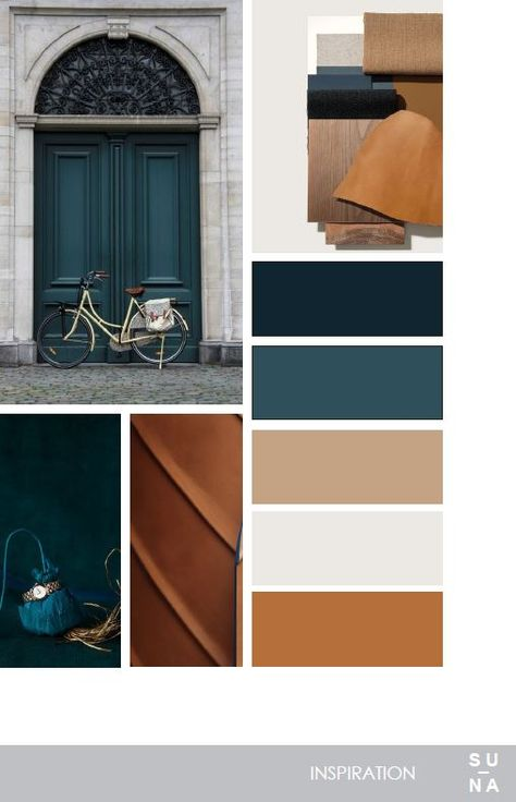Possible color scheme with lighter shades of blue and darker wood substitutes & … Possible color scheme with lighter shades of blue and darker wood substitutes &; Shades of blue &; Possible color. Colour Pallete, Color Combos, Blue Color Schemes, Color Trends, Copper Colour Palette, Bedroom Colour Palette, Color Schemes Design, Modern Color Palette, Paint Color Schemes