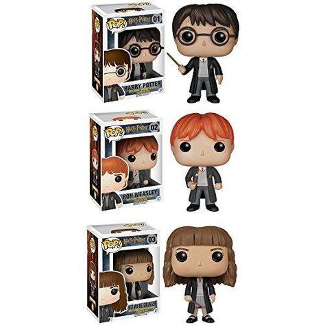 Funko Harry Potter POP! Movie Vinyl Collectors Set: Harry Potter, Ron Weasley & Hermione Action Figure - basic