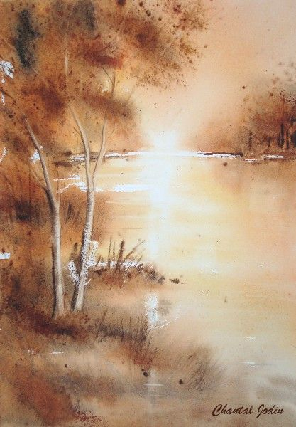 Paysages Avec Images Paysage Automne Aquarelle Peinture