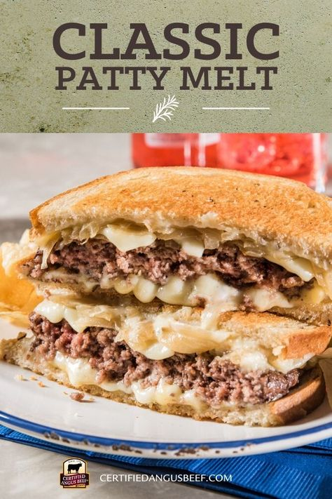 Best Beef Recipes, Meat Recipes, Appetizer Recipes, Recipies, Appetizers, Cooking Recipes, Patty Melt Recipe, My Favorite Food, Favorite Recipes