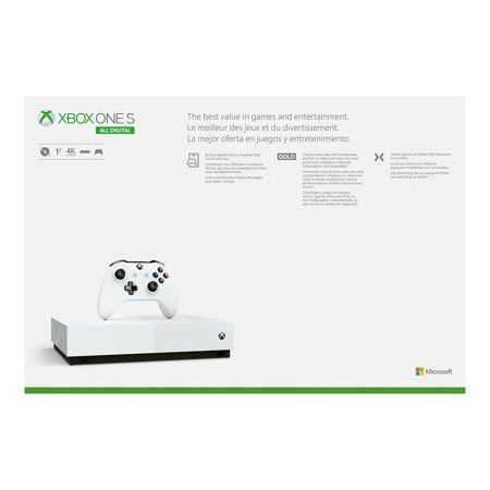 Microsoft Xbox One S 1tb All Digital Edition 3 Game Bundle Disc Free Gaming White Njp 00050 Walmart Com In 2020 Xbox One S 1tb Xbox One S Xbox One Games