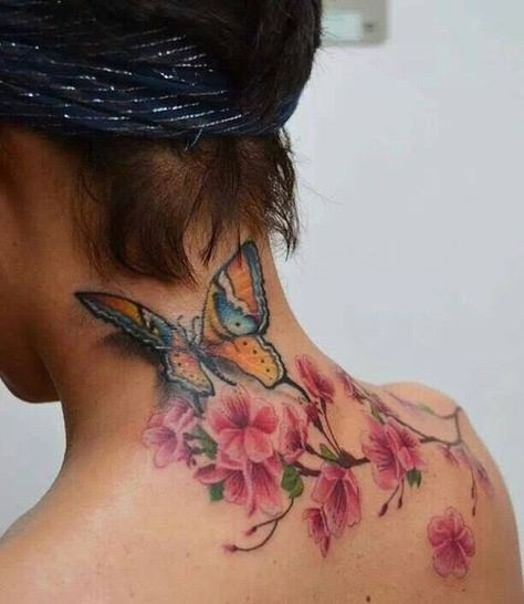 butterfly flowers tattoos - Google Search