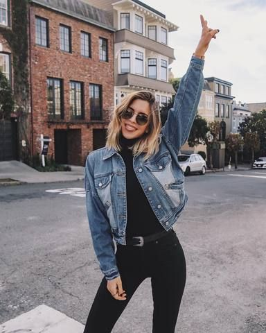 How To Style Jean Jackets: 12 Outfit Ideas To Copy - Cleo Madison