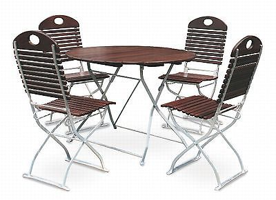 Biergartenmobel 1x Tisch O100cm 4x Stuhl Exklusiv Stuhle