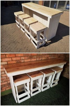 Sylish Pallets Dining Table And Branch 01 Diyfurniturepallets