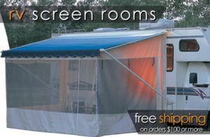 Shadepro Offers Top Of The Line Rv Screen Room Enclosures From Innova All Of Our Screen Rooms Attach To Your Existing Rv Screen Rooms Rv Screen Vintage Camper