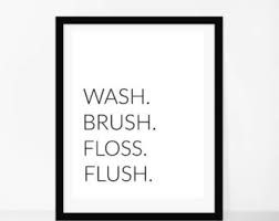photograph regarding Wash Brush Floss Flush Free Printable referred to as Pinterest