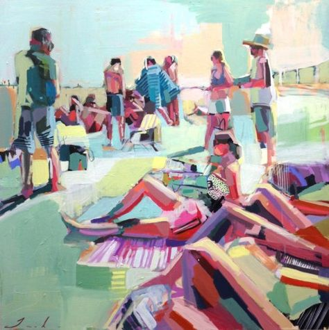 Memorial Day Way by Teil Duncan | artsy forager #art #paintings #beach #summer