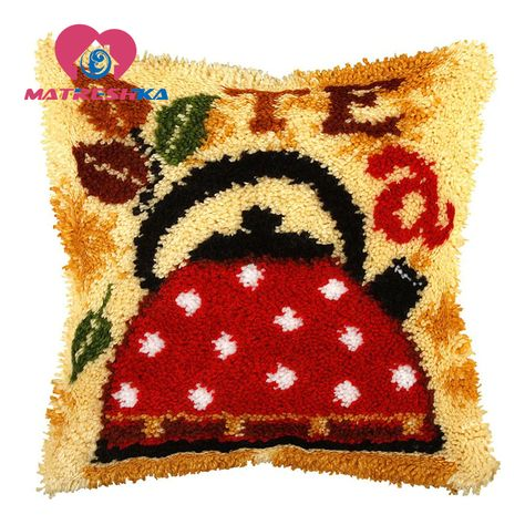 "LATCH HOOK  ANIMAL RUG// PILLOW  KIT  /""HUMMING BIRD/"" LATCH TOOL INCLUDED"
