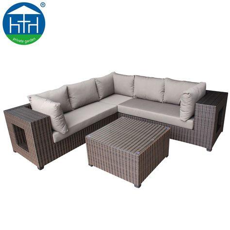 Rattan Effect Corner Sofa Set Cover Gardenline Di 2020