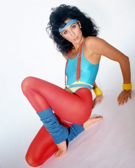 In the aerobics gear and the fitness craze became so popular. Leotards even replaced the need for undergarments. Gym styles were popularized thanks to Jane Fonda in bold primary colors.