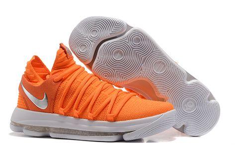 Nike KD 10 EP Orange White in 2019 | White basketball shoes