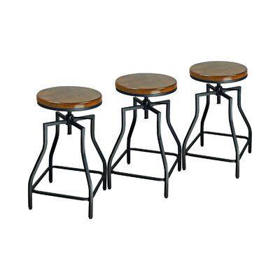 Williston Forge Wisbech Adjustable Height Bar Stool Bar Stools