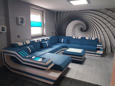 Wohnlandschaft Ravenna Xxl Schwarz Weiss Wohnen Modernes Mobeldesign Und Sitzgruppe