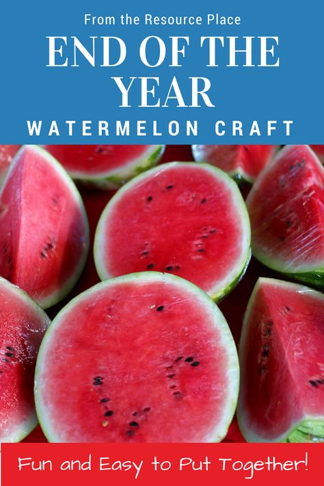 This EASY TO MAKE End of the Year Summer Craft is a perfect keepsake that can be made during the last weeks of school! With a cute watermelon theme, this product will have your students complete 7 mini writing prompts about the 5 senses and their upcoming summer break! Each writing prompt is then accompanied by a blank watermelon where they students will draw a picture to go with their response.  #tpt #teacherspayteachers #endoftheyear #school #teaching #crafts