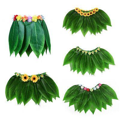 Summer Masquerade Costume Hawaiian Beach Water park grass skirt leaves dress