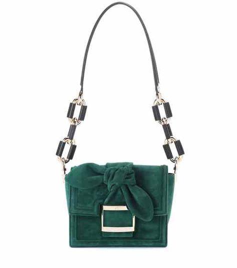 61213a735d6f Viv  Mini Bow suede shoulder bag