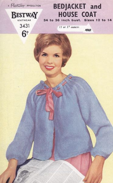 Beautiful Bed Jacket Sewing Pattern Ornament Knitting Pattern