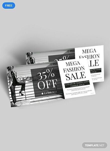 Free Fashion Sale Discount Voucher Gift Voucher Design Coupon
