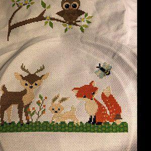 Rudolph deer Penguin Polar bear Counted cross stitch Christmas set of 4 animal easy cross stitch PDF Patterns Owl