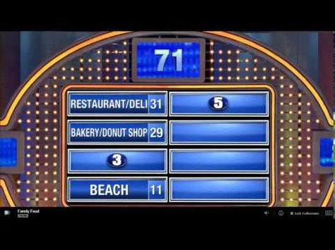 Eligon Family Feud Episode 2 - YouTube GAME SHOWS Pinterest - family feud power point template