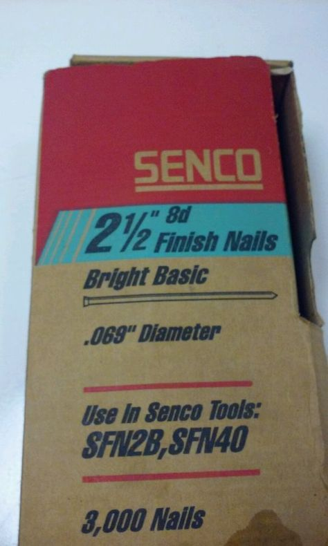 Senco Da25epb 21 2 15 Gauge 34 Degree 65mm 3000 Pack Finish Nails Galvanized 8d Senco Ebay Packing Gauges