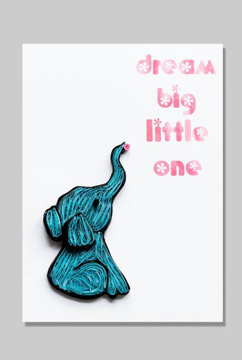 Elephant Nursery Art Prints Nursery Decor by ofthingspretty