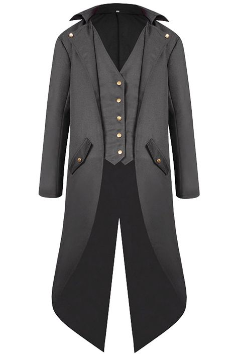 Renaissance Steampunk Tailcoat Halloween Costumes for Men Retro Pirate Victorian Gothic Medieval Jacket Vintage Frock Coat