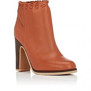 See by Chloe Tan Leather Scalloped