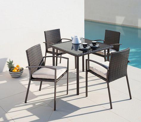 9 Tlg Gartenmobelset Victoria 4 Sessel Tisch 90x90 Cm