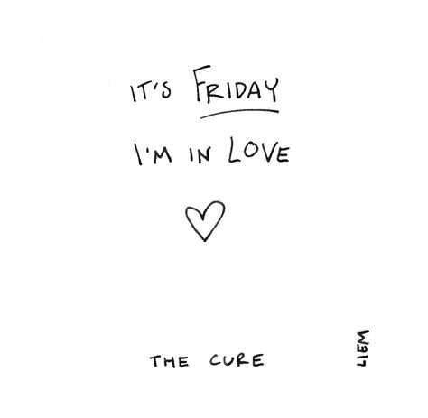 The Cure. Friday I'm In Love. 365 illustrated lyrics project, Brigitte Liem.