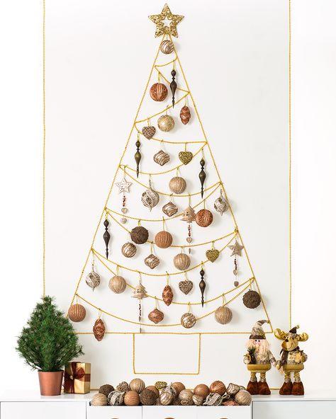Yih Vane Adornos de /árbol de Navidad de 3 Piezas Decoraciones Colgantes de Navidad no Tejidas con Oso de Reno de Santa para Chimenea /Árbol de Navidad
