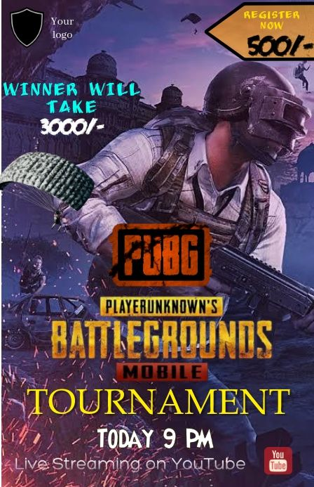 Pubg Tournament Poster Gaming Posters Poster Template Gaming Banner